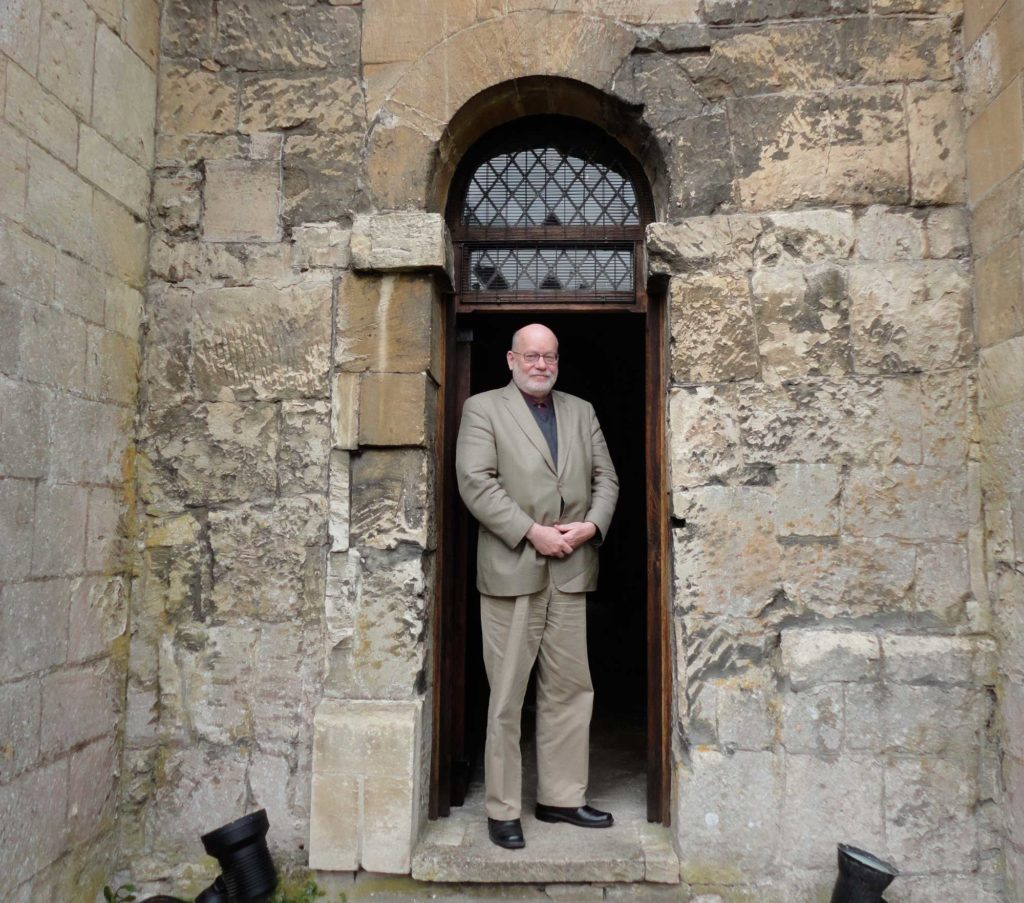 Taken at the main doorway of Aldhelm's church of St Laurence in Bradford-on-Avon. Photo: Gryffyd Eamonn Dempsey.